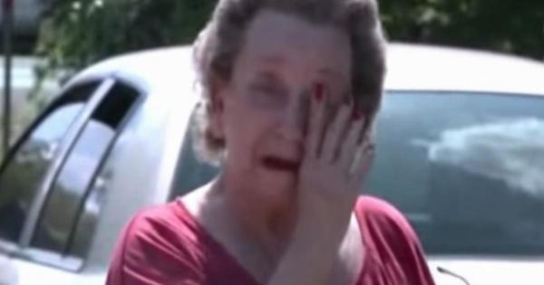 4 boys sneak into old woman's yard, when she grabs them, the tears start flowing