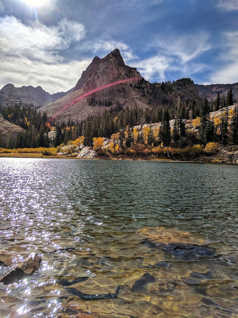 Sundial Mountain - Lake Blanche with Sundial Peak  -  Big Cottonwood Canyon, Utah