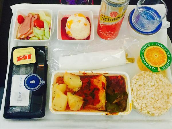 glutenfreies Essen bei Singapore Airlines Premium Economy