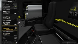 Borussia Dortmund Skin fo Scania RJL + Interior