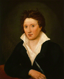 Portrait of Shelley by Amelia Curran, painted in about 1819