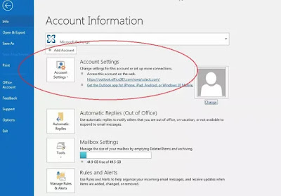 كيفية إضافة حساب بريد إلكتروني إلى اوتلوك outlook؟