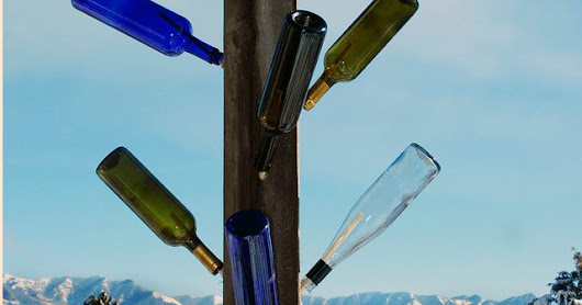 How to Build a Wine Bottle Tree