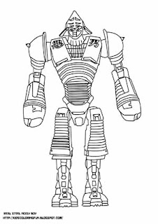 zeus real steel coloring pages | Real Steel Noisy Boy And Other | Learn To Coloring