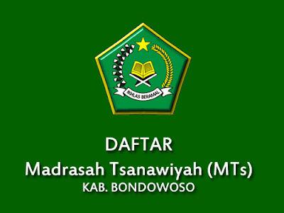 Daftar MTS di Kabupaten Bondowoso