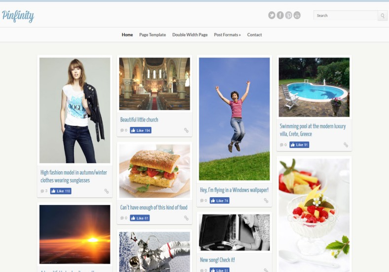 Pinfinity Blogger Template | High Quality Free Blogger Templates