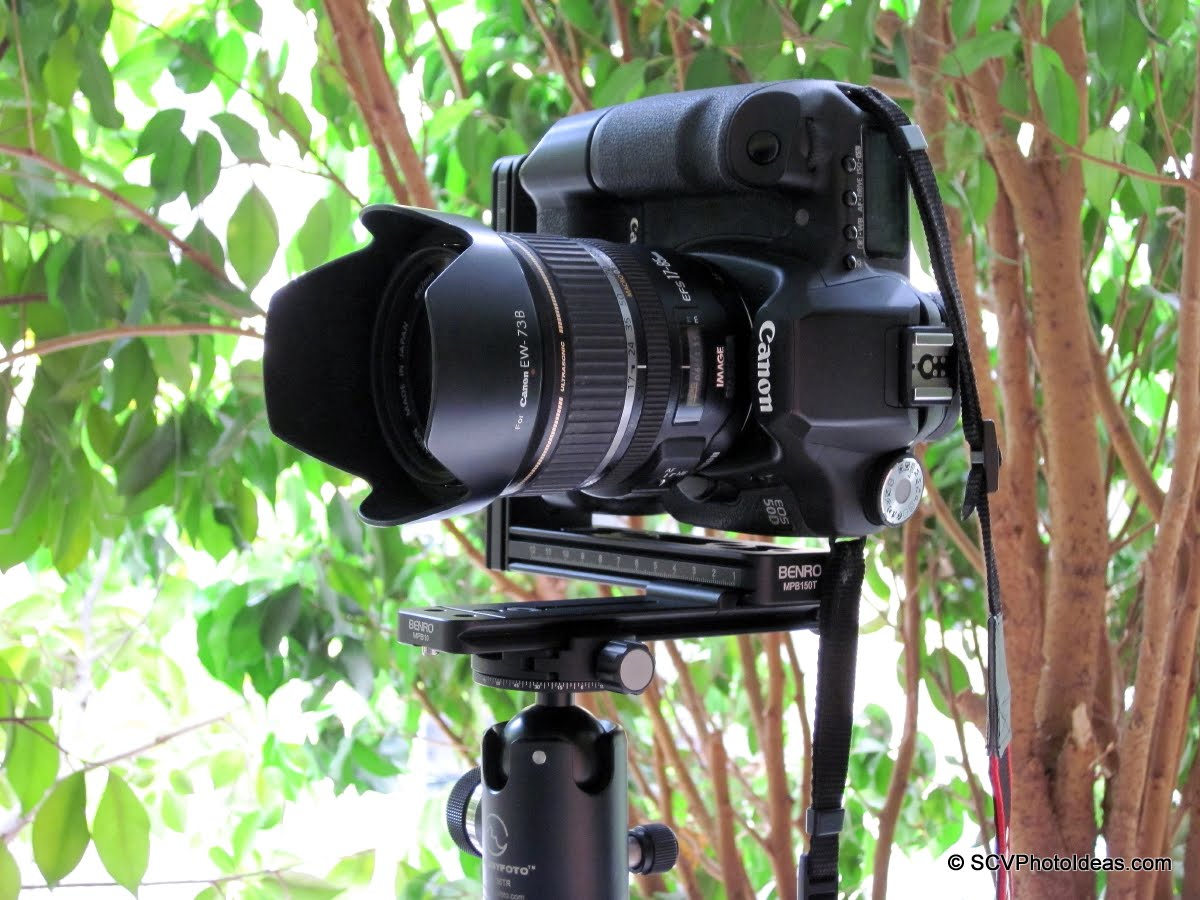 SIngle-row panorama setup on Sunwayfoto DDH-02
