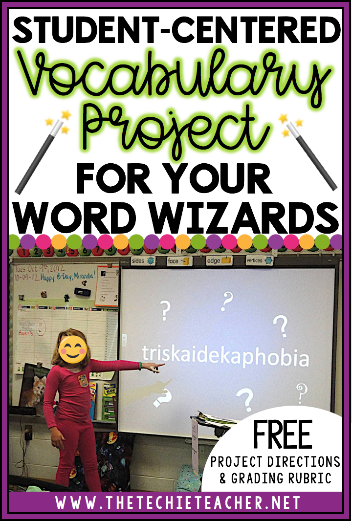 Expand your student's vocabulary knowledge with this engaging, student-centered vocabulary project called Word Wizards. Free project directions and grading rubric can be downloaded in this post!