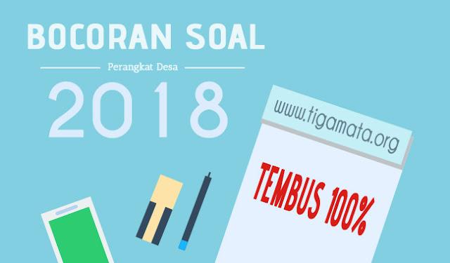 Bocoran Soal Ujian Perangkat Desa Tahun 2018 (Prediksi dari Kisi - Kisi)