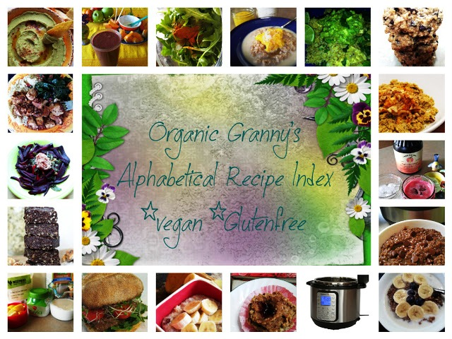 Organic Granny's RECIPE INDEX