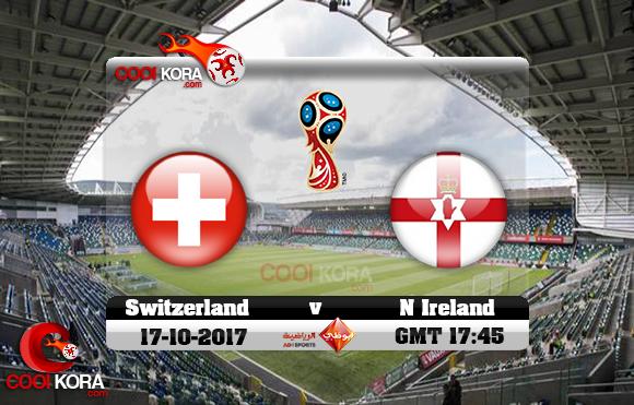 مشاهدة مباراة إيرلندا الشمالية وسويسرا اليوم 9-11-2017 تصفيات كأس العالم
