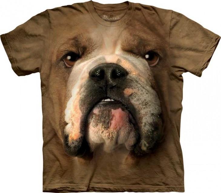 camiseta con foto de perro