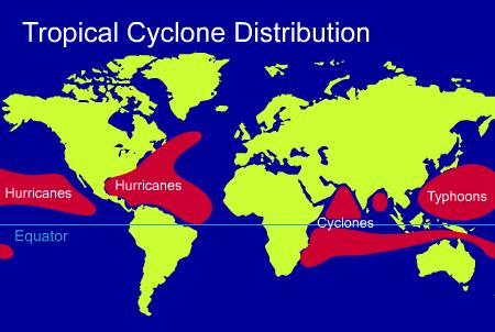 the relationship among hurricanes typhoons and tropical cyclones