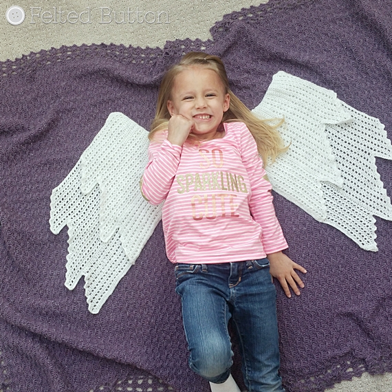Embraced by Angels Blanket Crochet Pattern by Susan Carlson of Felted Button
