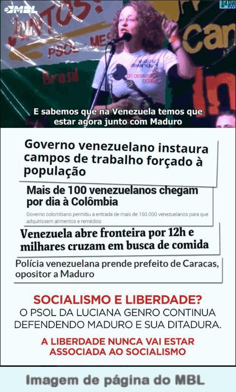 Luciana Genro(PSOL-RS) de repente se cala sobre a situação na Venezuela