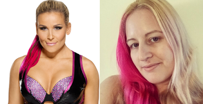 WWE Superstar Nattie With Colored Hair