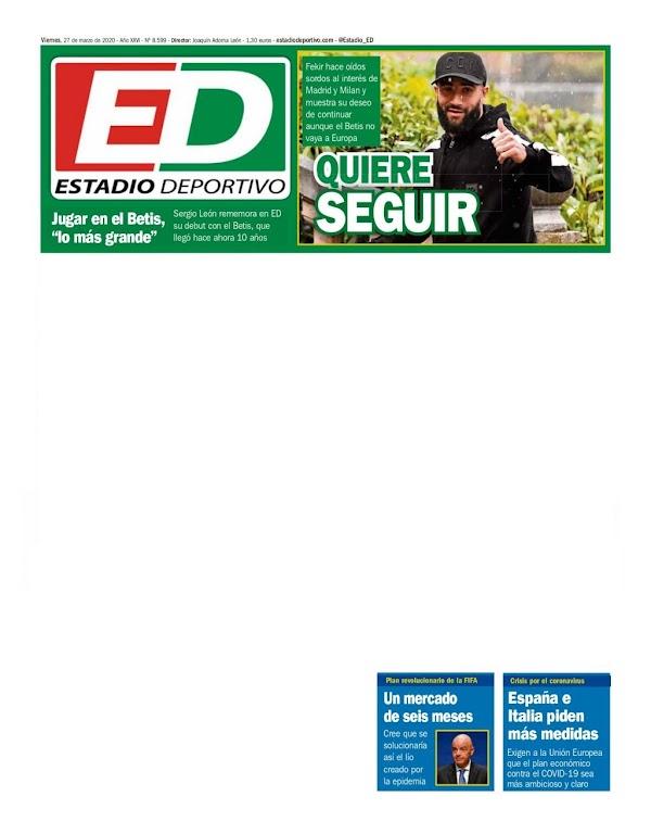 """Betis, Estadio Deportivo: """"Quiere seguir"""""""