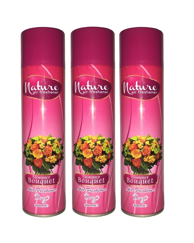 Pack Of 3 - Nature Summer Bouquet Air Freshener 300 ml