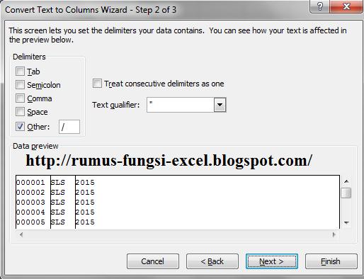 Salah satu kasus yang dihadapi saat mengolah data dengan aplikasi ms Fungsi Delimited Pada Text To Columns