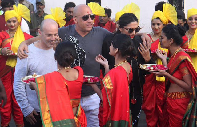 Deepika Padukone and Vin Diesel in Mumbai