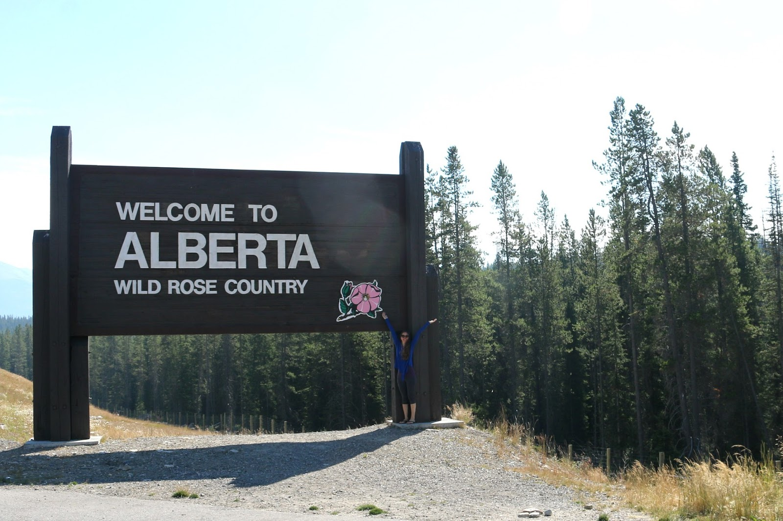 Welcome To Alberta Sign Banff National Park Alberta Canada