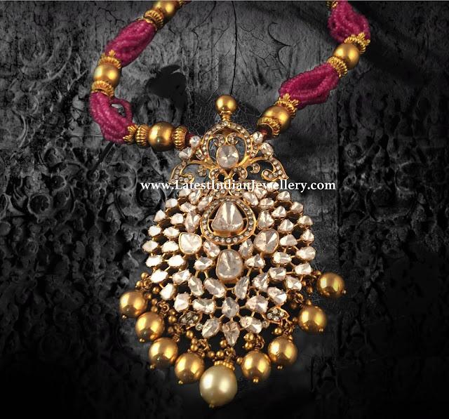 Huge Polki Pendant for Beads