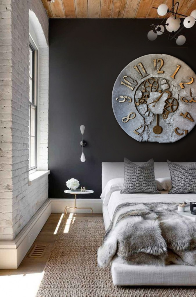 Duży zegar do sypialni