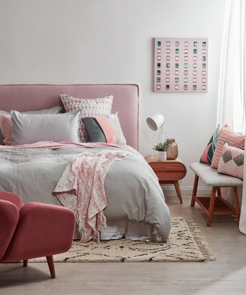 Beautiful pink bedroom design