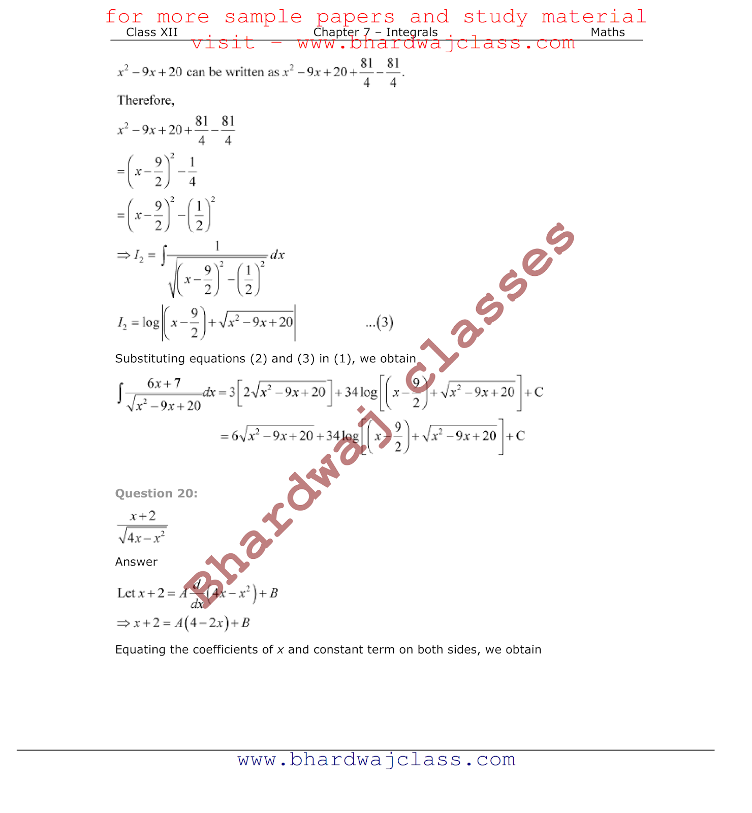 NCERT Solutions for Class 12 Maths - Free PDF Download