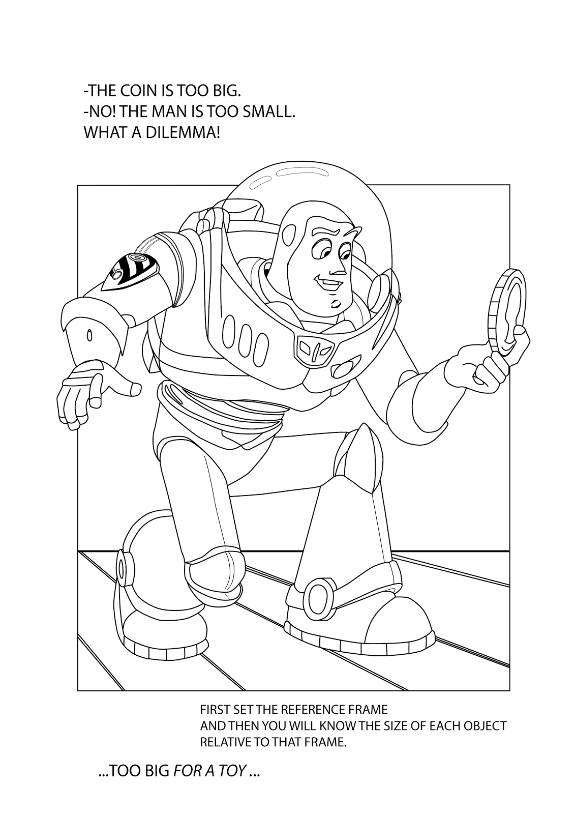 Páginas para colorear originales Original coloring pages: Buzz ...