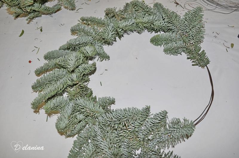Rellenar alambre con ramas