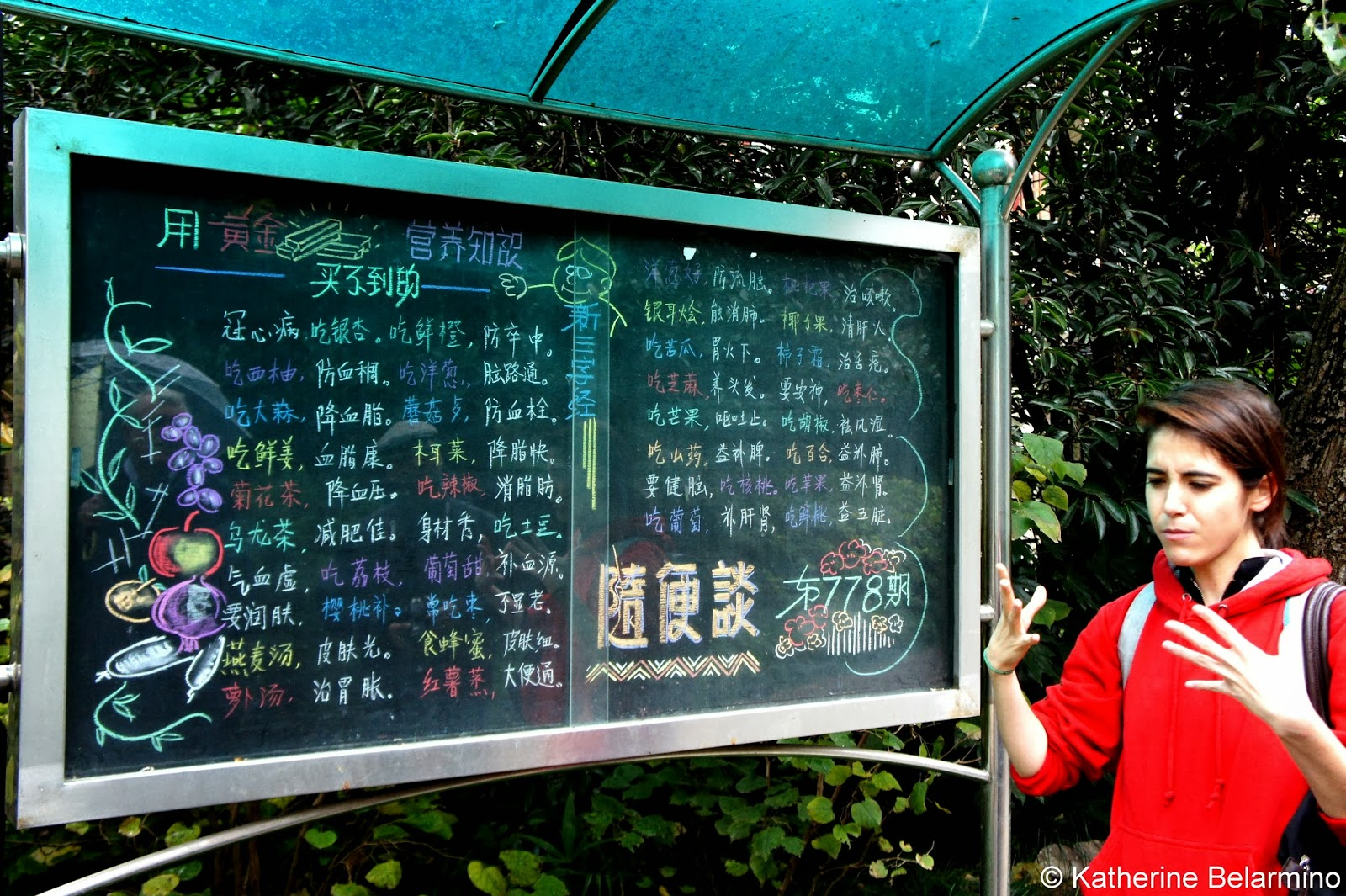 Xiangyang Park Chalkboard Food Tour Shanghai China