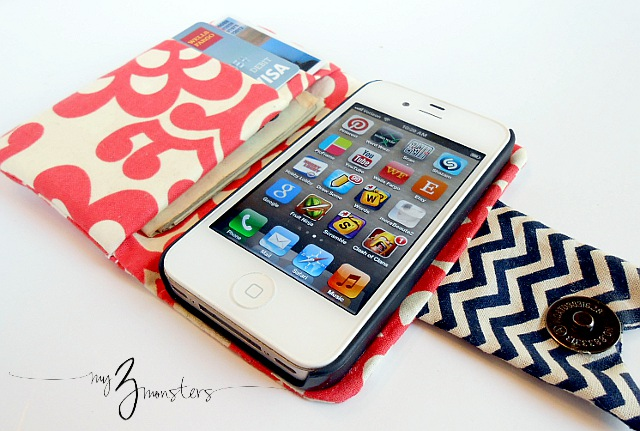 outlet store 9d5c0 8dae6 My 3 Monsters: DIY iPhone Wallet Tutorial