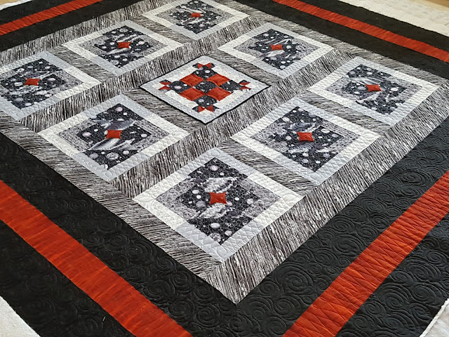 quilters loom fresh off the frame