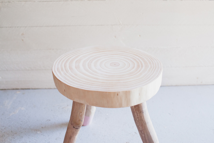 natural timber stool