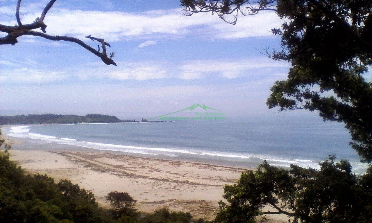 Salah satu view menuju pantai sawarna