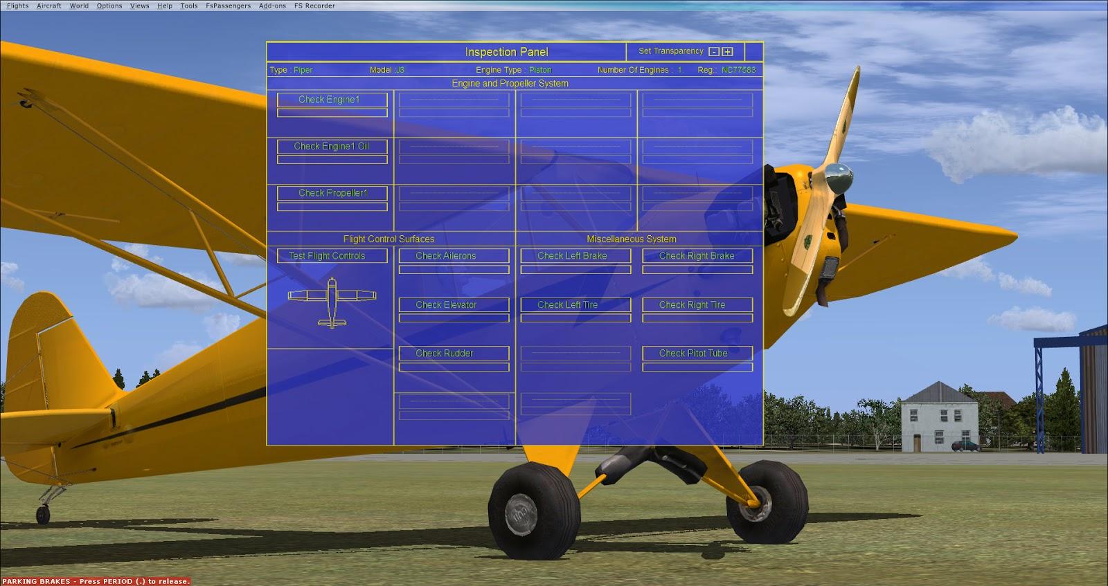 FSX Aircraft Inspection Mod