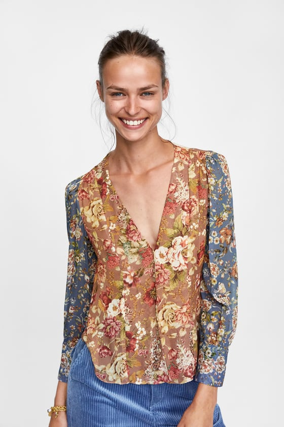 potd, product of the day, zara blouse, zara patchwork blouse, suz and the sun style, zara style 2018