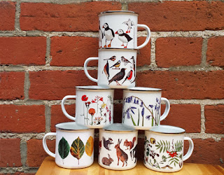 Enamel Mug range by Alice Draws The Line