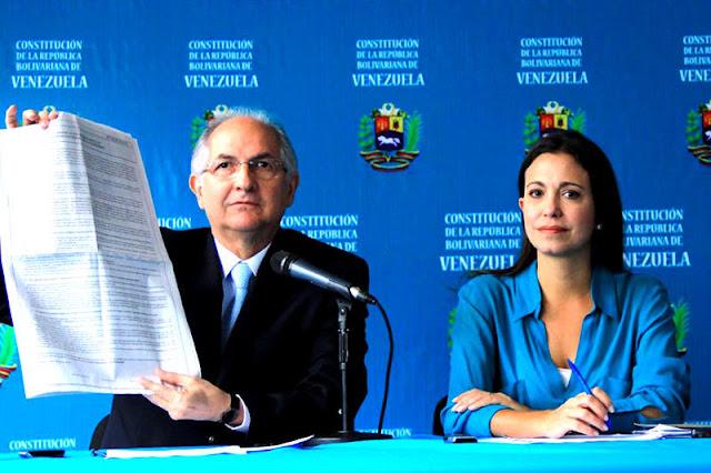 Ledezma y Maria Corina rechazan aceptación de Constituyente por parte de la MUD