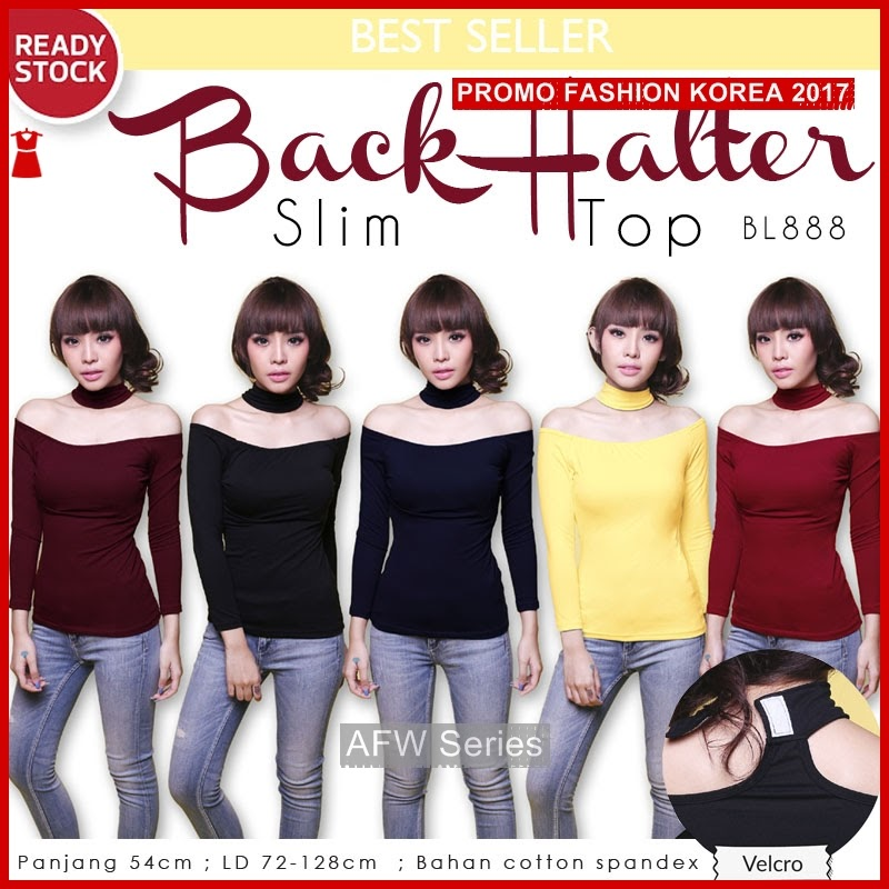 BAMFGW179 Back Slim Top Wanita PROMO BMG