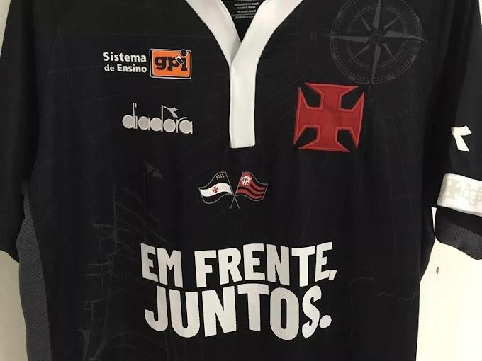 Rivalidade de lado: Vasco entrará em campo com bandeira do Flamengo no uniforme