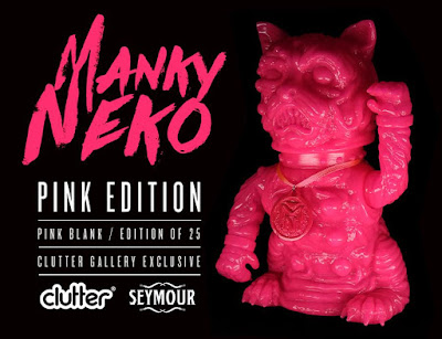 Clutter Exclusive The Manky Neko Pink Edition Vinyl Figure by Seymour