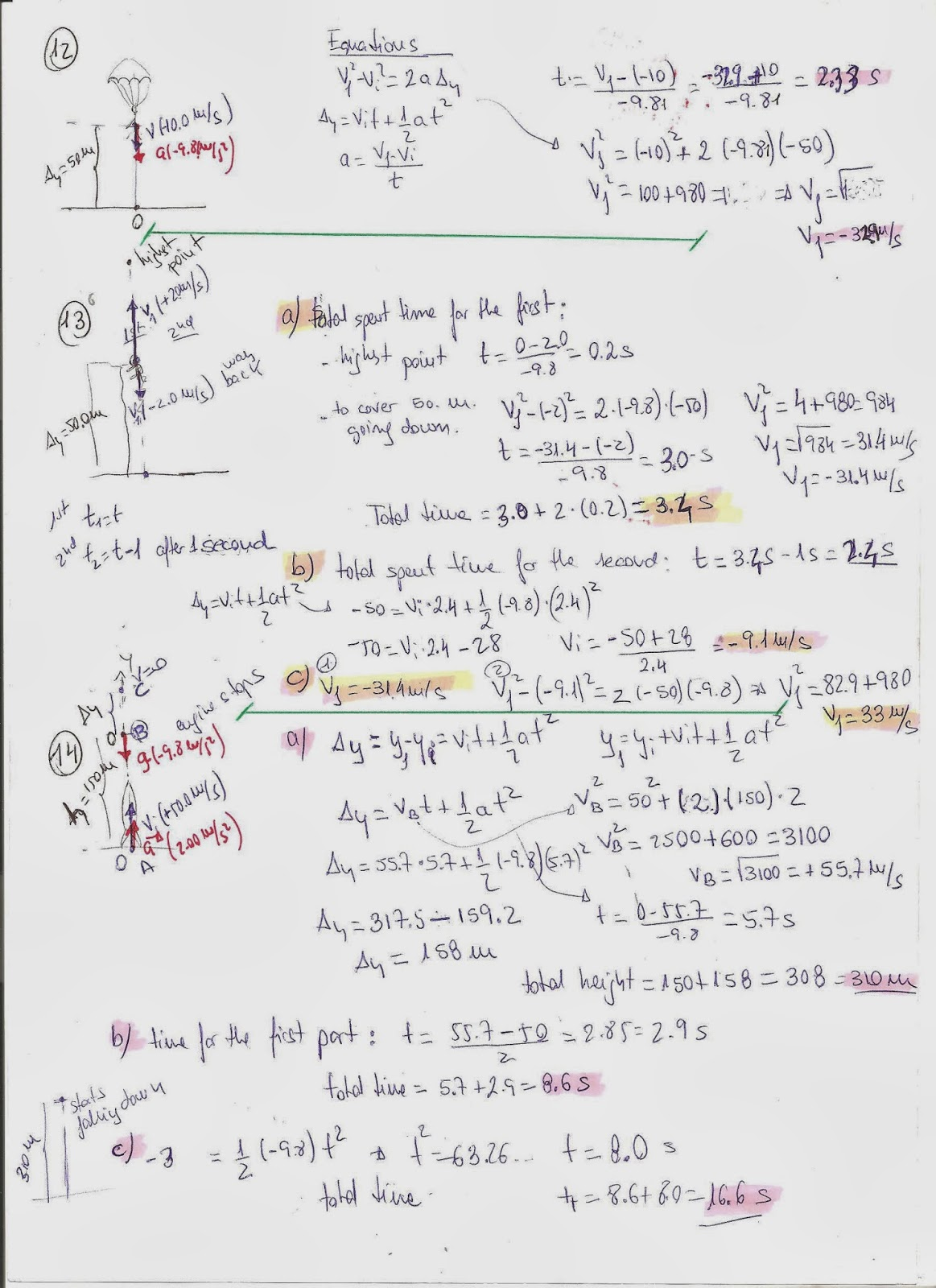 Motion In One Dimension Worksheet