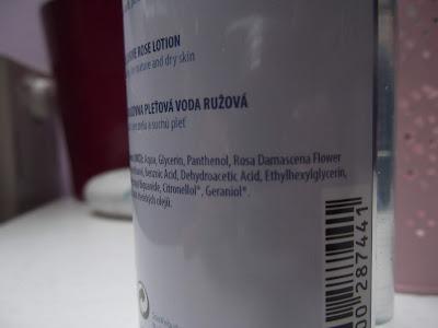 Pleťová voda Růžová ingredients
