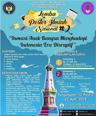 Lomba Poster Ilmiah Nasional 2018 UNY