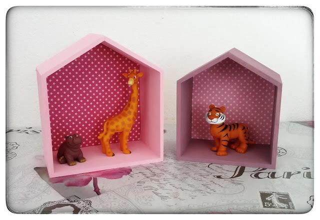 ♥ DIY : Les étagères maisons girly ♥