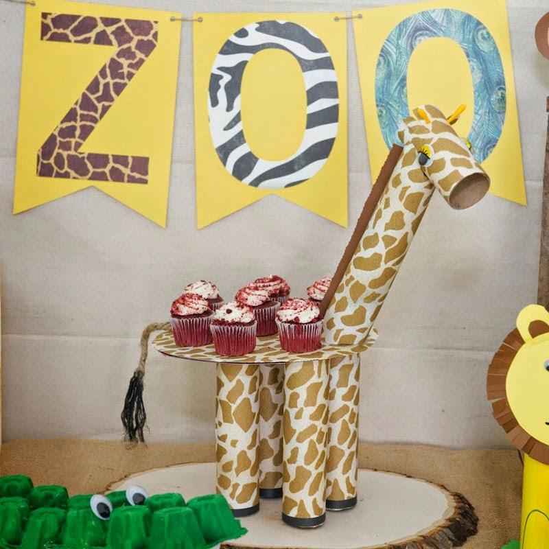 Eu Amo Artesanato: Suporte De Cupcake De Girafinha Para Festas