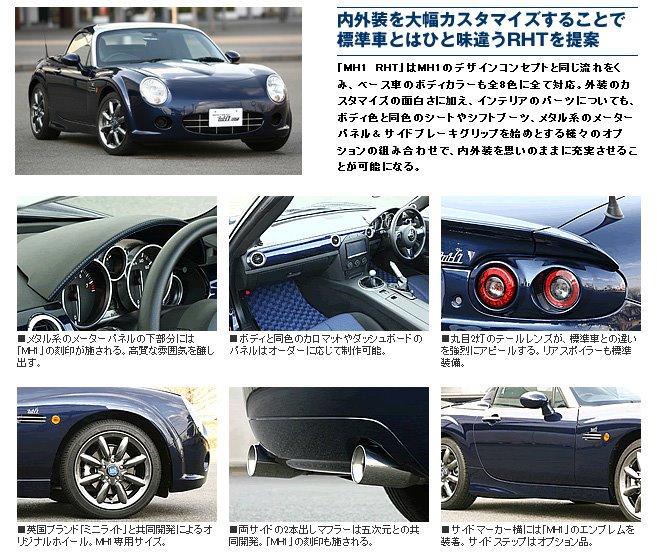 Mazda MX-5, Miata, Eunos Roadster, tuning, 日本車, スポーツカー, オープンカー, マツダ, NC, monoCraft MH1 RHT