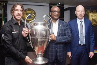 Governor Amobode Receives UEFA Champions League Trophy In Lagos (Photos)